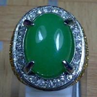Cincin Batu Permata Green Aventurine