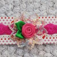 Harga headband bandana bayi rosebud flower | WIKIPRICE INDONESIA