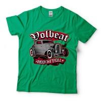 Baju Kaos Band Volbeat Rock And Roll Green Tag Gildan