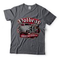 Baju Kaos Band Volbeat Rock And Roll Charcoal Tag Gildan