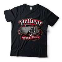 Baju Kaos Band Volbeat Rock And Roll Black