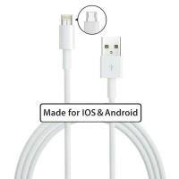 Jual Data Cable 2 in 1 Lightning (iPhone 5 ke atas) & Micro USB (Android) Murah