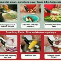 Jual Clever Cutter Gunting + Talenan / Pemotong Sayur / As seen On Tv Murah