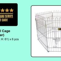 Kandang Pagar Stainless Steel Cage Hewan ( Anjing , Kucing , dll)