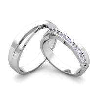 cincin tunangan sepasang bahan palladium model ellegan