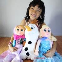 Jual Boneka Frozen Anna & Elsa (Sepasang) 60cm Muka Karet Murah