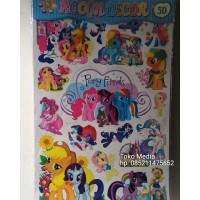Wall stiker room dekor 3D / 5D Gambar Timbul Uk 80x5,5 MY LITTLE PONY