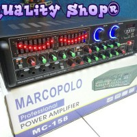 power mixer 4 channel marcopolo mc-158 usb sd dan radio fm (600 watt)