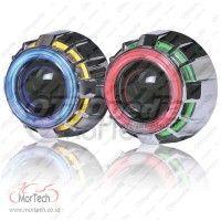 Projector Hid Double Angel Eyes S1 Aes YZF R15 150 Merah Biru Merah