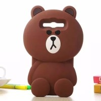 Samsung J1 Ace J110 Silicon 3D kartun Teddy Brown Softcase casing hp
