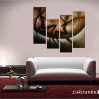 harga Lukisan Abstrak Kode D41-HA | Lukisanku Tokopedia.com
