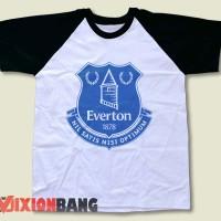 Kaos Distro, Kaos Raglan, Kaos Logo - Kaos Raglan Team Everton Log0