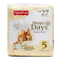 FISHER PRICE HAPPY DAYS SIZE 5 DIAPERS ISI 27