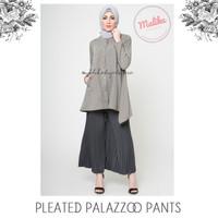 Jual Box Pleated Palazzo Trousers by Malika Hijab Store Murah
