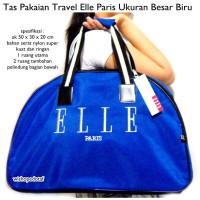 harga Tas Travel / Baju Bag Elle Paris Besar Turkis Tokopedia.com
