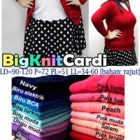 Big Knit Cardigan 3L XXXL rajut JUMBO BIGSIZE