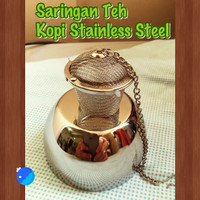 Saringan Infuser Tea Teh Kopi Coffee Obat Stainless Steel Kawat