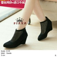 harga Sepatu Wedges Boots Wanita | High Heels Flat Shoes Kets Murah Tokopedia.com