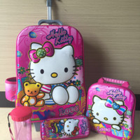 harga Tas Trolley Anak 6D 4 in 1 Set Hello Kitty Baby Tokopedia.com