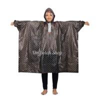 Jas Hujan POLKADOT 713 Elmondo Poncho Lengan Motor Rain Coat Wanita