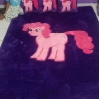 Jual Karpet Busa Rasfur Karakter Kartun Kuda Little Pony Pink Ungu Murah Kota Tangerang Karpet Keset Unik Tokopedia