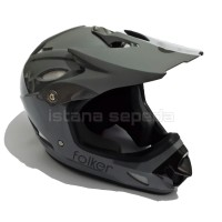 NEW HELM FULL FACE MERK FOLKER GREY ABU DH DOWNHILL , BMX , DJ MTB