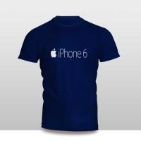 Kaos Baju Pakaian GADGET HANDPHONE IPHONE 6 LOGO FONT murah