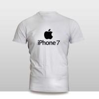 Kaos Baju Pakaian GADGET HANDPHONE IPHONE 7 LOGO FONT murah