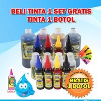 harga Tinta Dye Based Anti UV Epson 1 Set + Bonus - 4 Warna - 250 ML Tokopedia.com