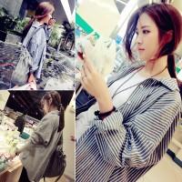 Jual kemeja big size oversized baju kemeja korea blouse atasan fashion baru Murah