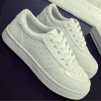 Sepatu Kets Wanita Putih Solid |Replika Adidas putih
