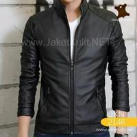 Jual jaket semi kulit pria/jaket motor/jaket harian Murah
