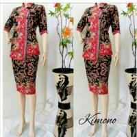 RnB Kimono Gentong Hitam, Setelan Batik Wanita