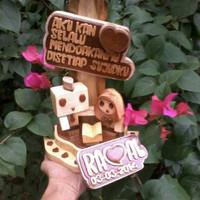 Jual Boneka Danbo Kayu Couple Souvenir dan Kerajinan Tangan Soleha Murah