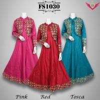 Baju Gamis Pesta Katun Sari India FS1030