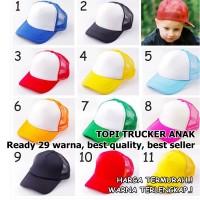 topi trucker kids anak polos