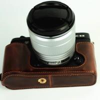 Half Case, Halfcase Leather Fujifilm X-E2, X-E1 Warna Coffee