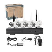Paket CCTV Wireless NVR Kit HD 4Ch with 4 CCTV (Online di hp) FBT0S