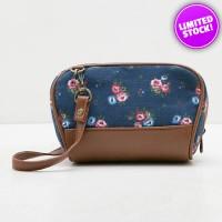 Tas Wanita Fashionable - Nikita Blue Clutch Mini Slingbag