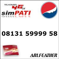 Nomor Cantik Telkomsel simPATI 4G LTE Panca Bahan Sakti 08131.59999.58
