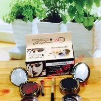 GEL EYELINER / EYELINER GEL AND EYEBROW KISS BEAUTY 2 IN 1 / 2IN1 24 H