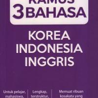 Kamus 3 Bahasa Korea-indonesia-inggris