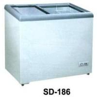 GEA SD-186 Sliding Flat Glass Freezer Box Chest Freezer