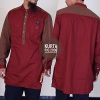 Baju Muslim Pria Modern Model Samase Baju Kurta Pakistan Warna Merah