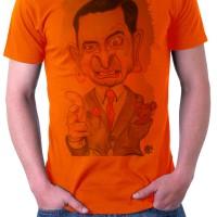 Kaos Orange Mr. Bean Karikatur Tismy Store