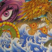 harga Lukisan painting repro dragon naga burung phoenix legenda hoki fortune Tokopedia.com