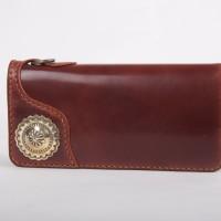 Flat Head Cordovan Wallet Hand Stitch Japan