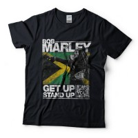 harga Baju Kaos Band Bob Marley Get Up Stand up Black Tag Gildan Tokopedia.com