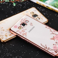 Casing Cover Hp SAMSUNG GALAXY A5 2015 A7 2015 A8 Flower Diamond Case