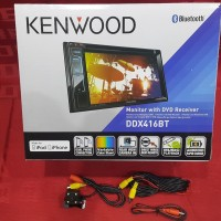 harga head unit KENWOOD ddx416bt gratis camera mundur LED CCD Tokopedia.com